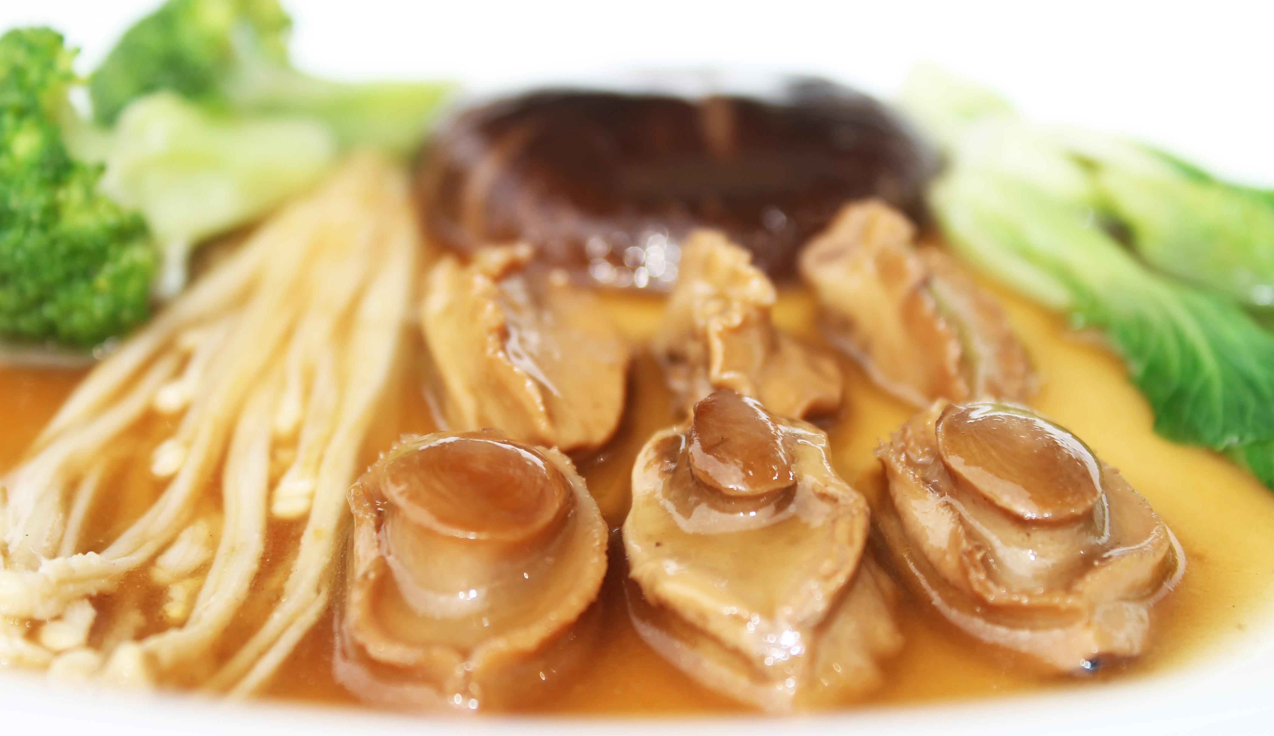 Món gà nấu bào ngư