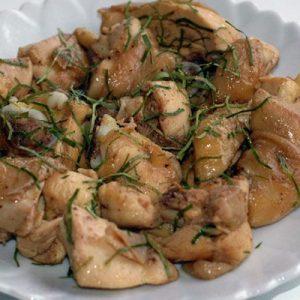 Thịt gà rang